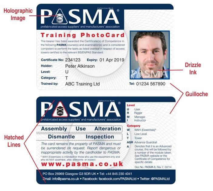 PASMA Card